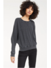 z supply z supply claire waffle l/s top
