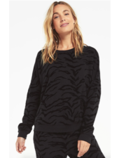 z supply marin tiger flocked sweatshirt