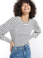 z supply clemente striped puff sleeve top