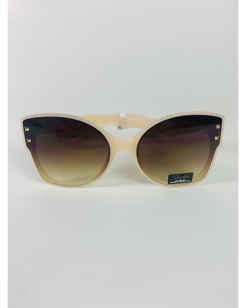 large frame gold stud sunglasses