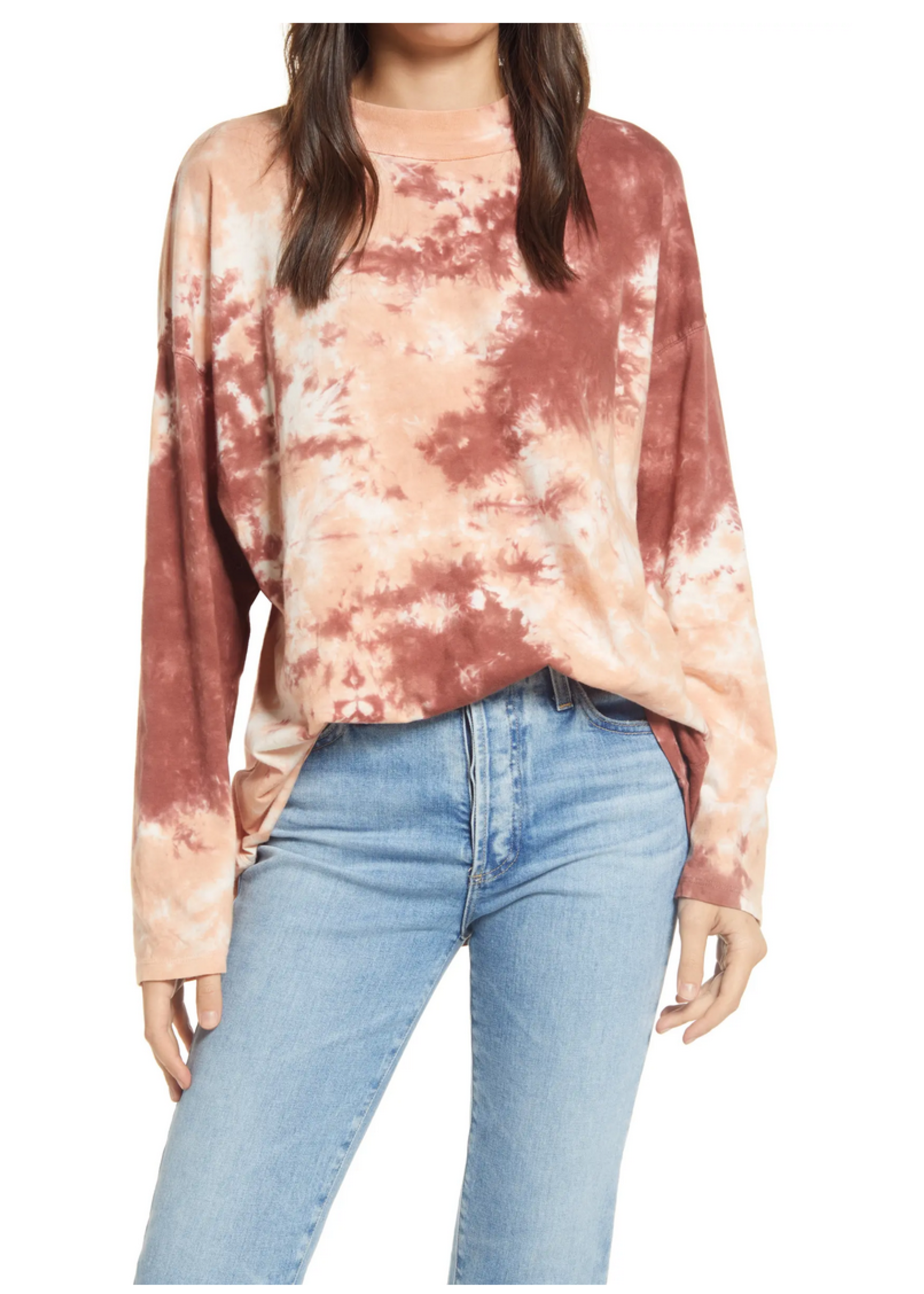 free people free people be free tie dye tee