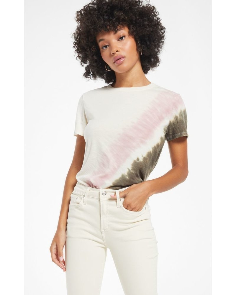 z supply z supply easy stripe tie dye tee