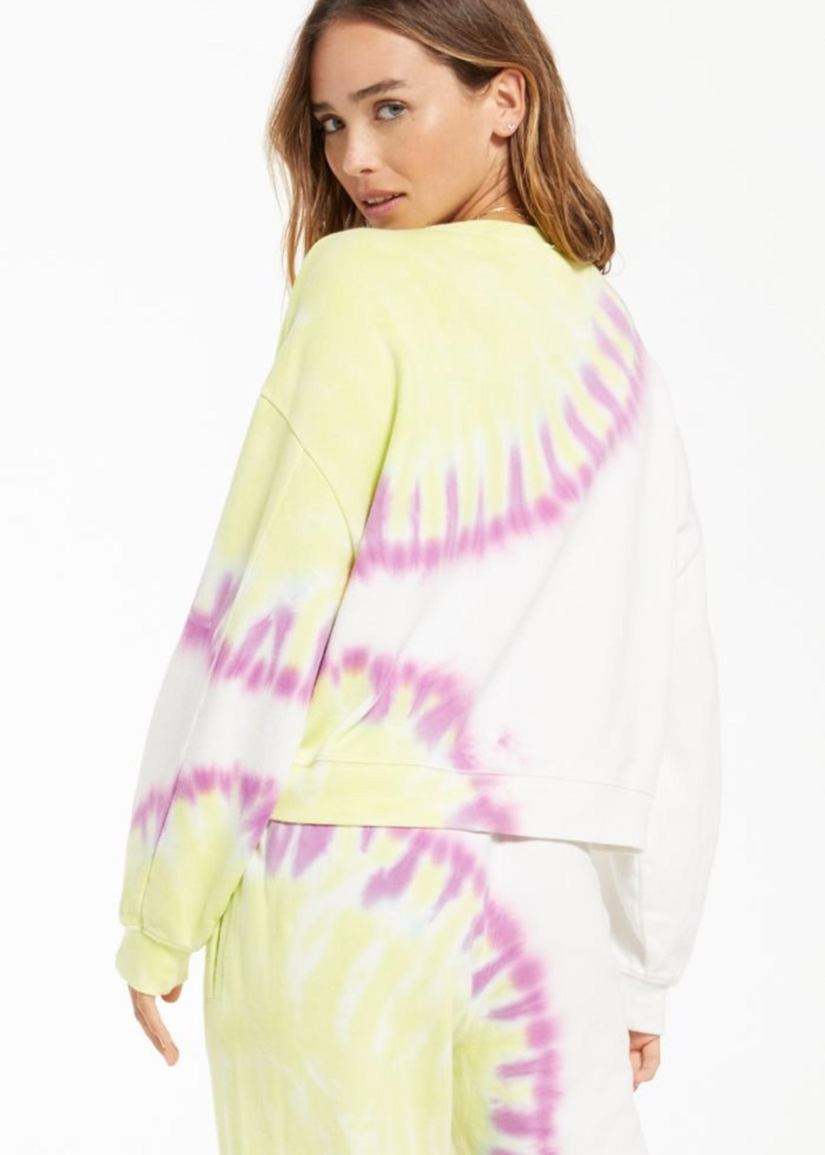 z supply z supply sunburst tie dye sweatshirt