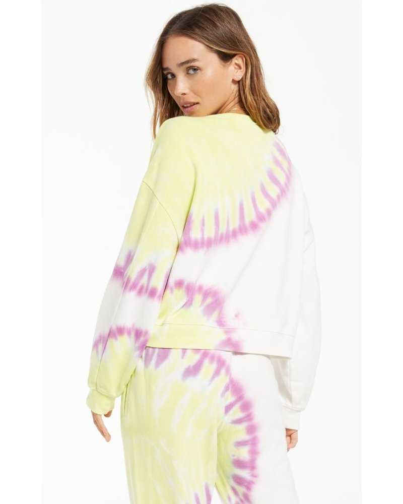 z supply z supply sunburst tie dye sweatshirt