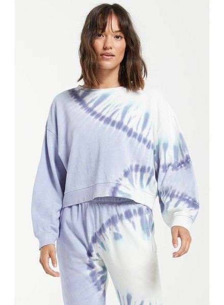 z supply sunburst tie dye sweatshirt
