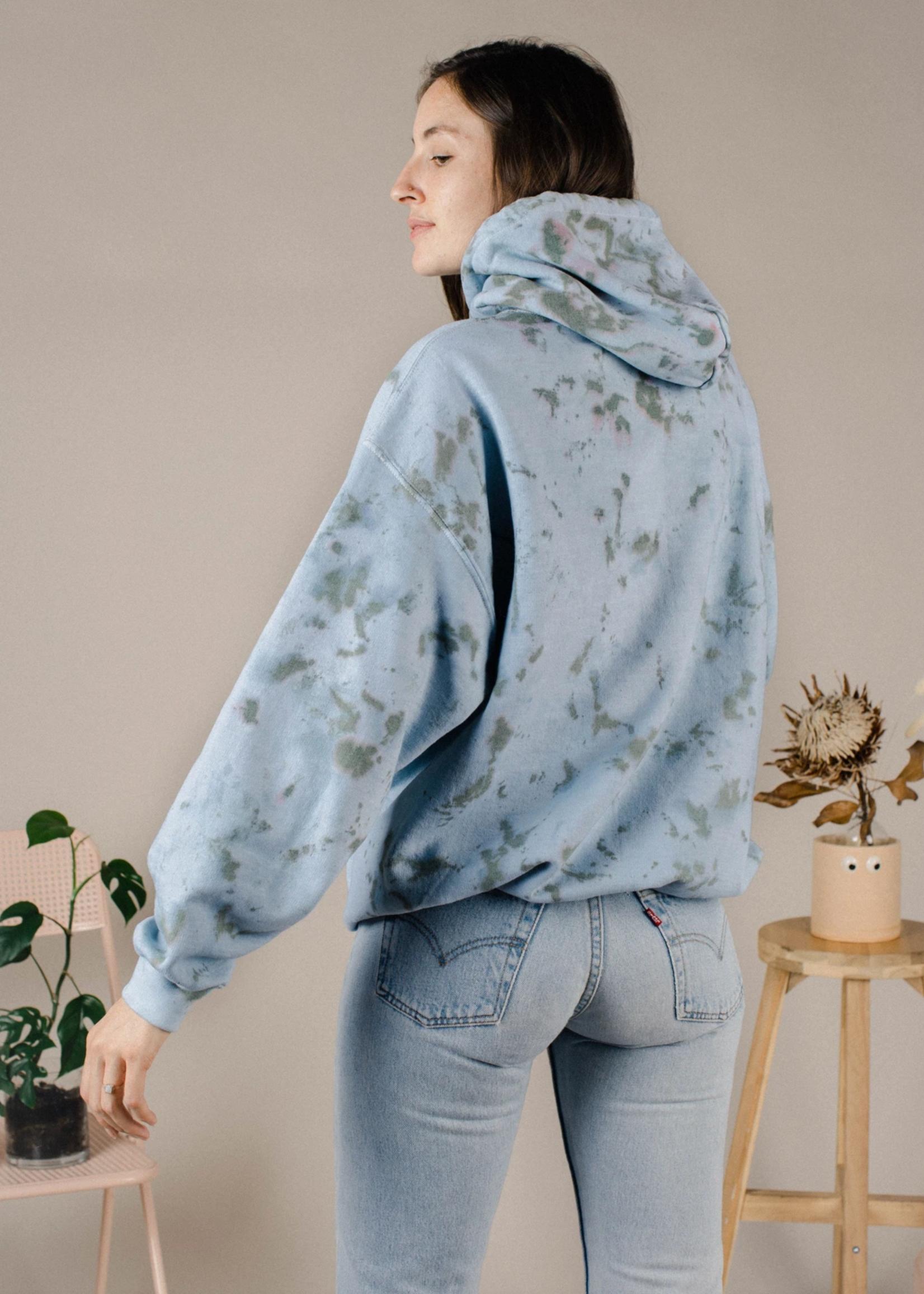 the things between the things between sea blue hoodie