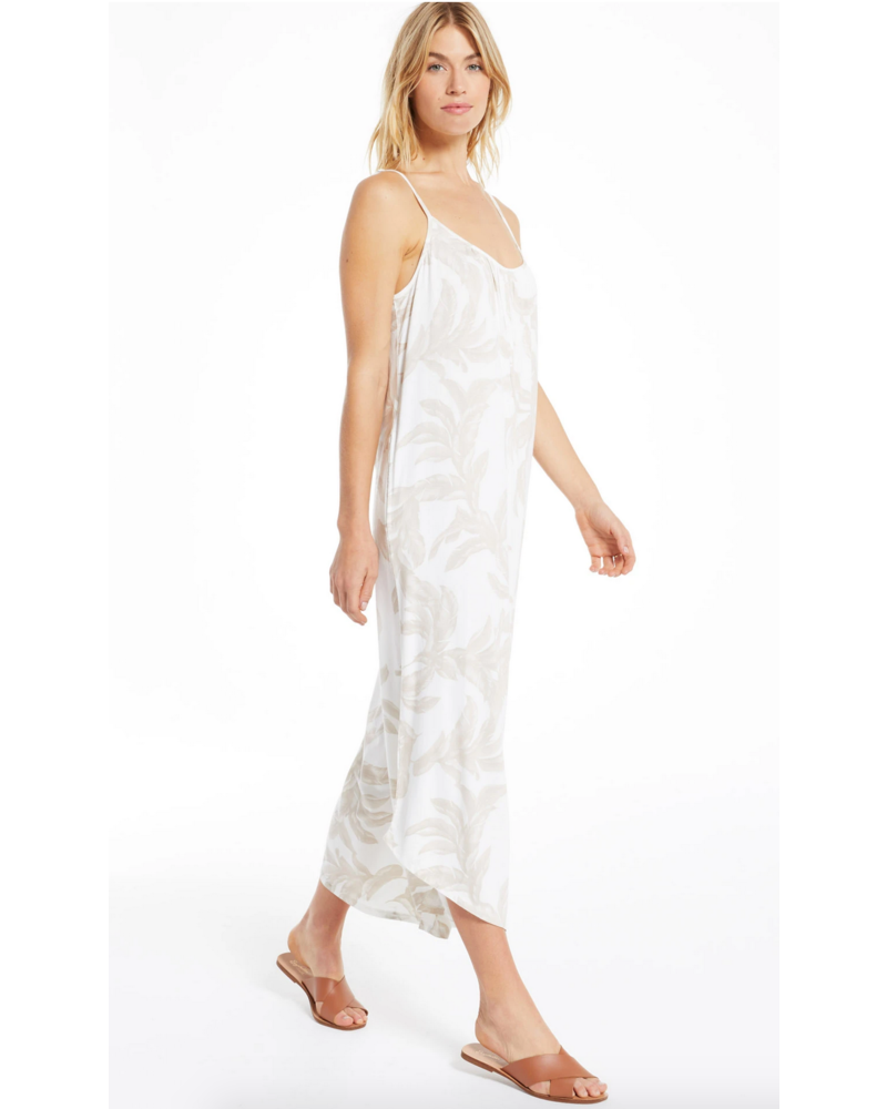 z supply z supply tira palm flared jumpsuit
