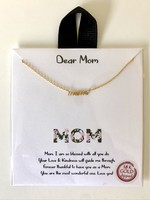 tiny gold mom necklace