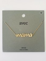 larger script mama necklace