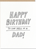 odd daughter paper company hell of a dad card
