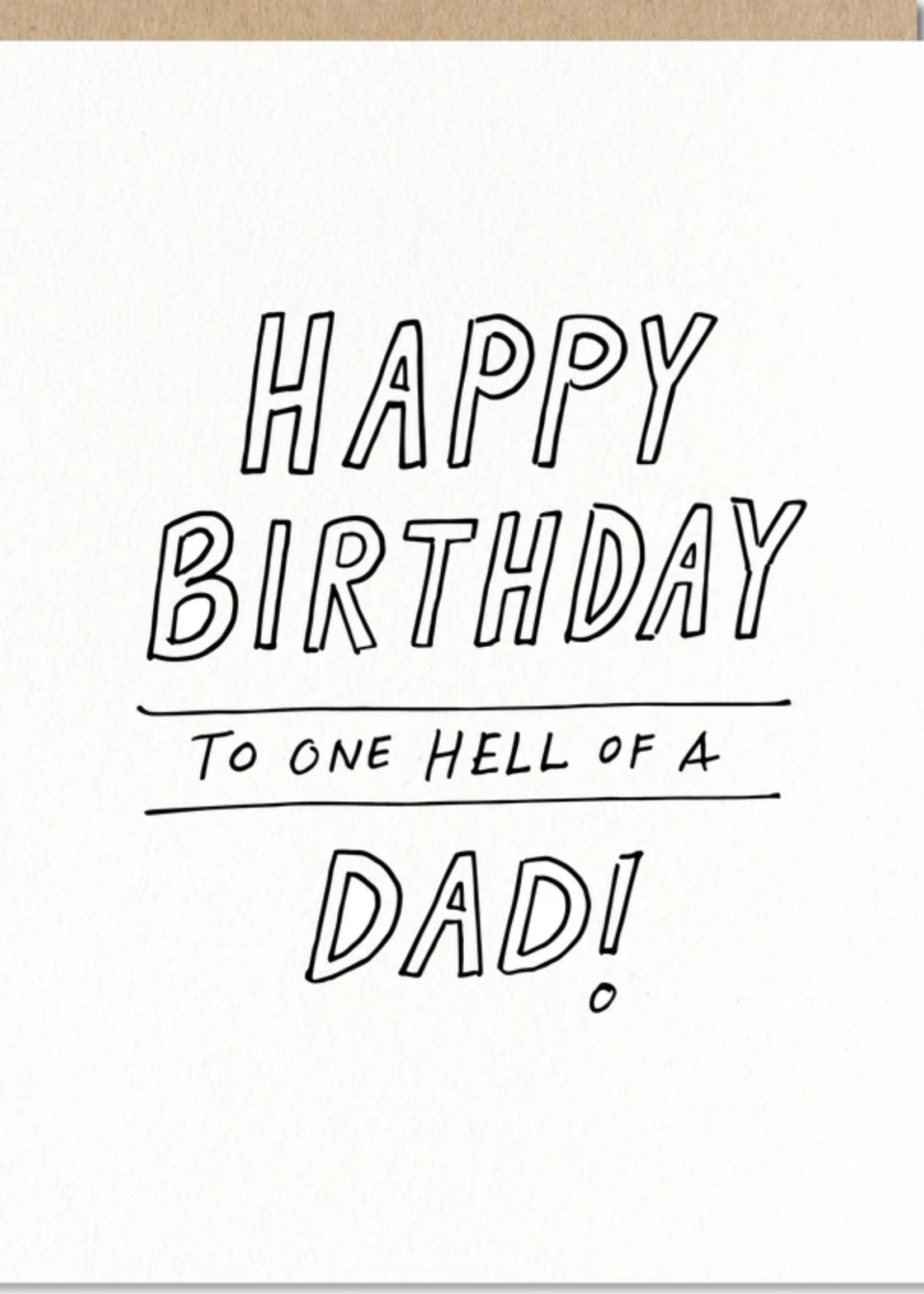 odd daughter hell of a dad card