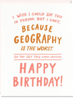 geography card