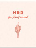 happy birthday party animal card