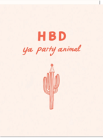 odd daughter paper company happy birthday party animal card