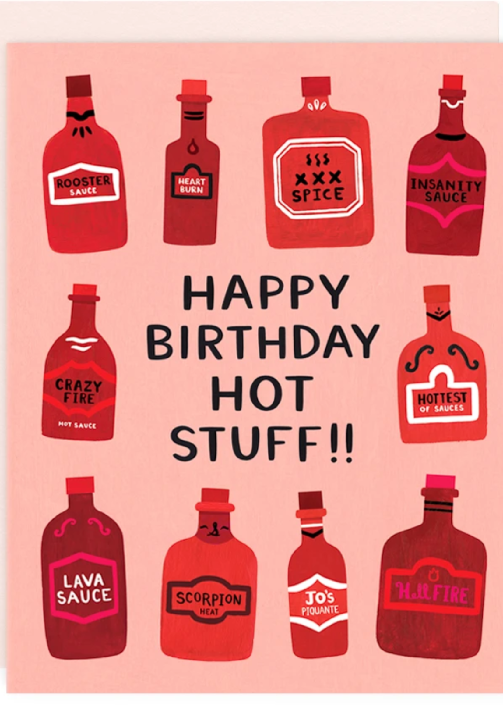 girl w/ knife hot stuff birthday card