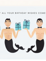 mermen birthday wishes card