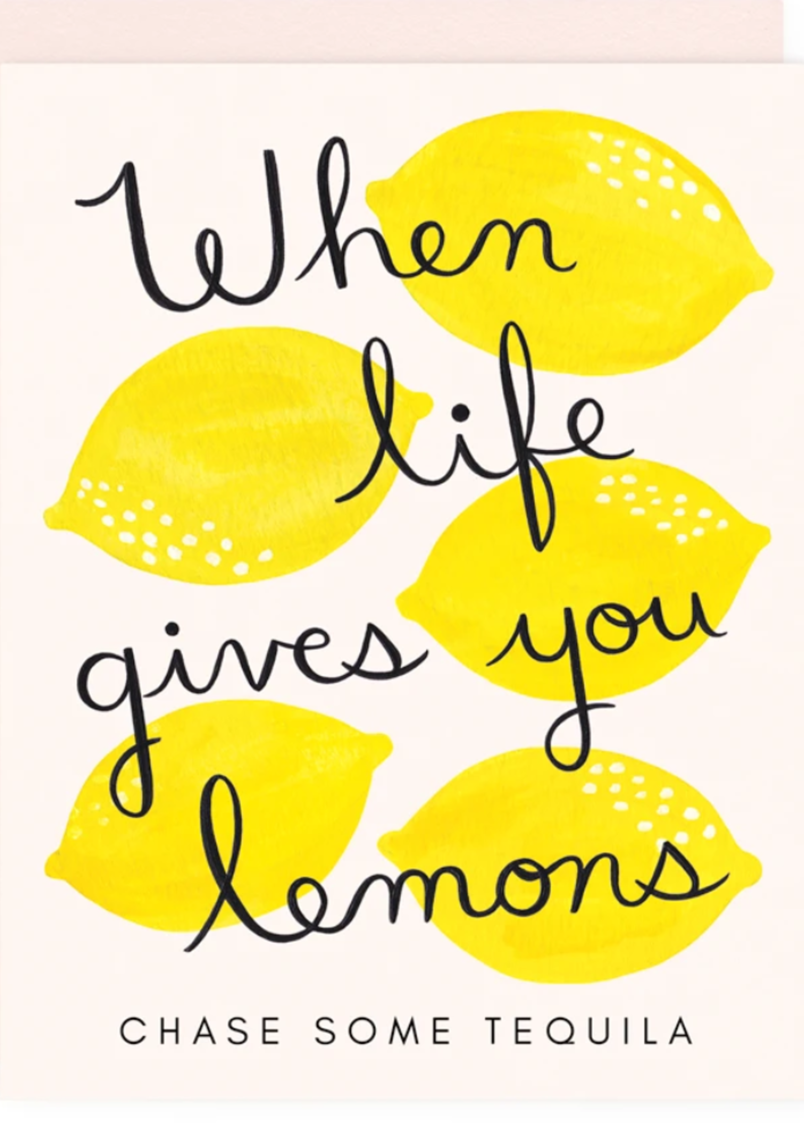 girl w/ knife life gives you lemons card