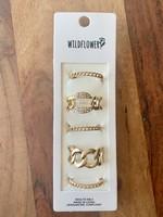 set of 6 adjustable multi rings