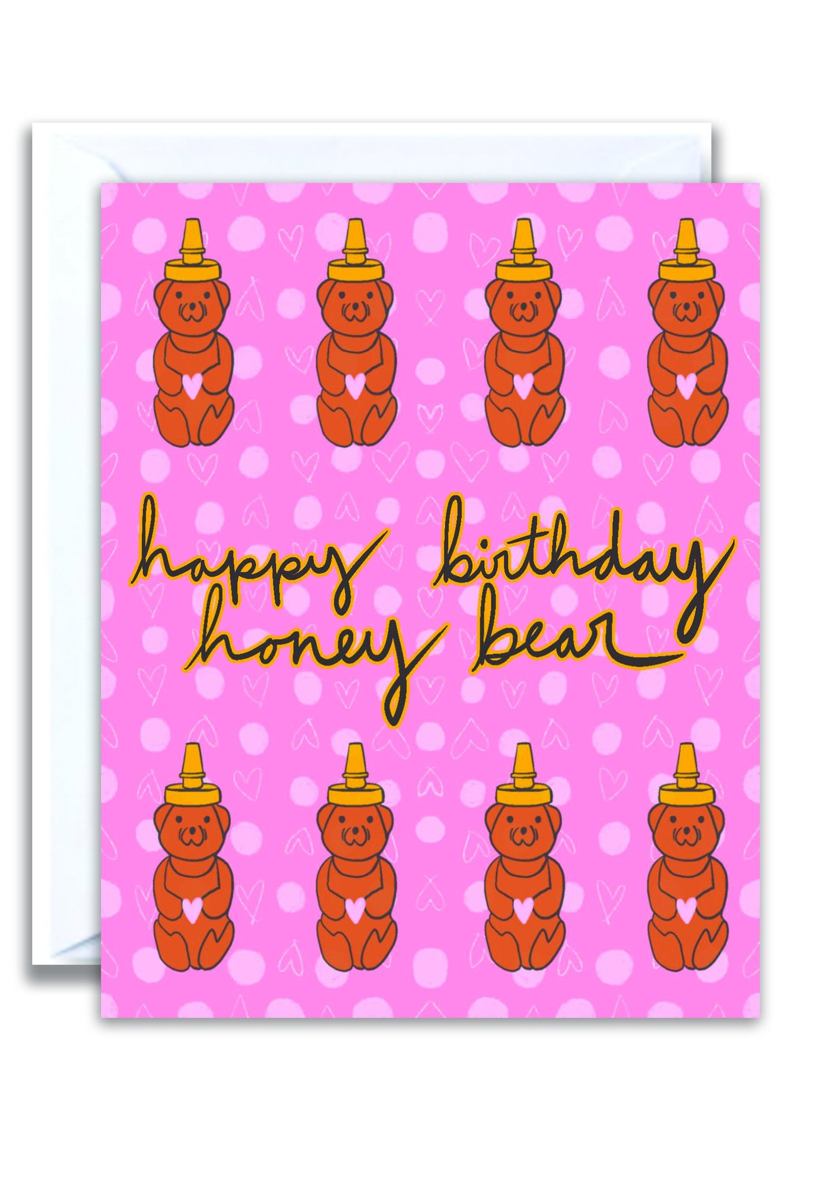 flo and syd honey bear card
