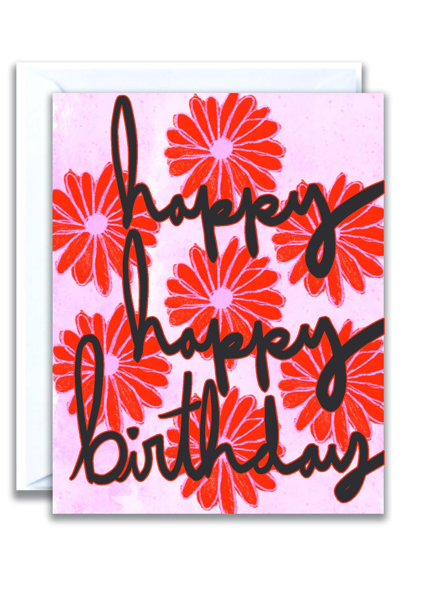 flo and syd happy happy birthday card