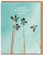 happy birthday palm card
