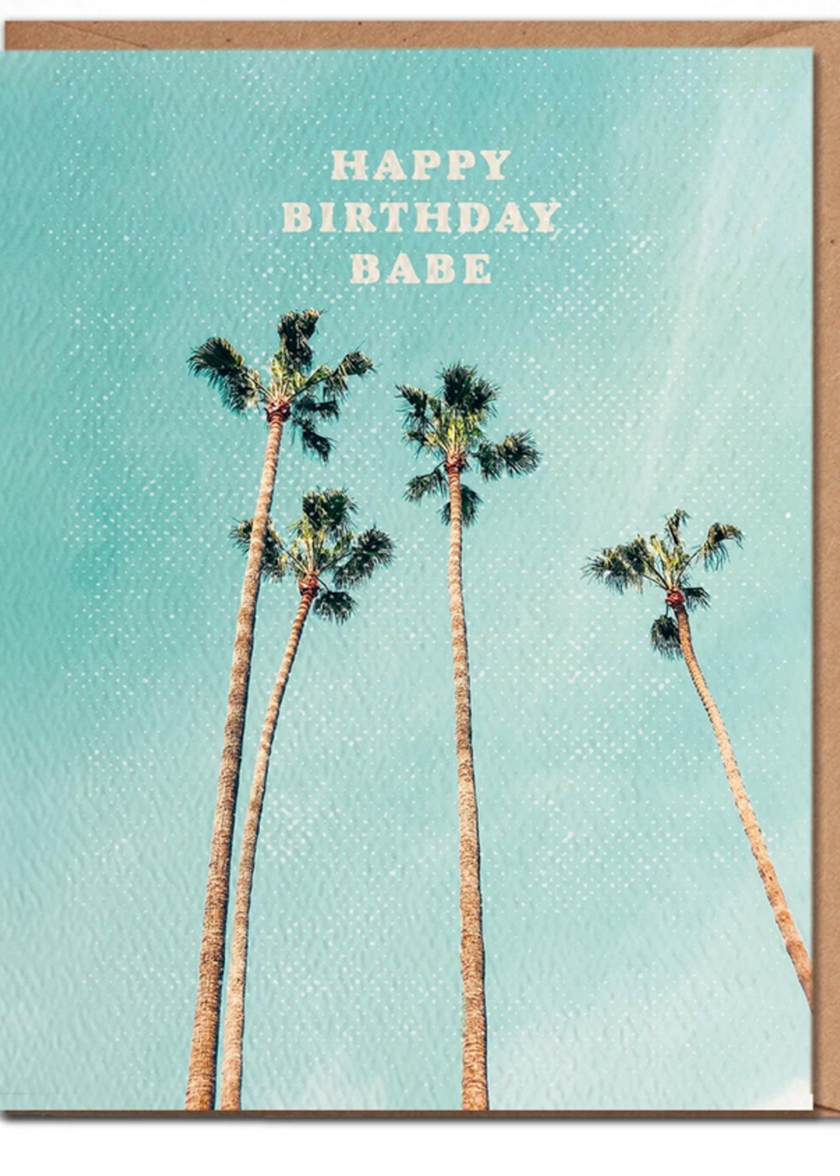 daydream prints happy birthday palm card