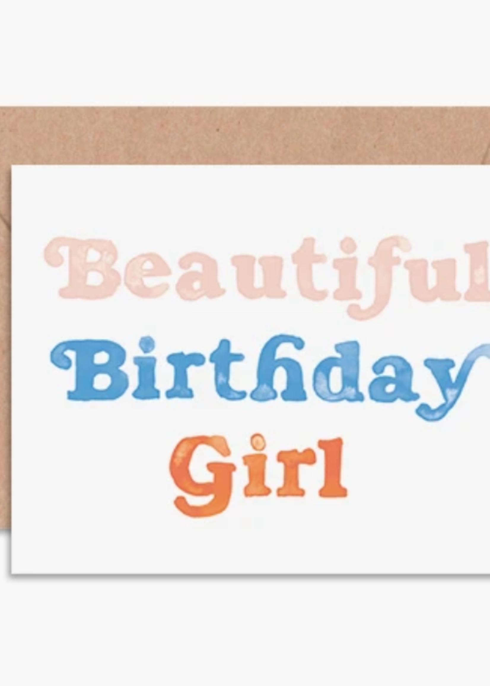 daydream prints beautiful birthday girl card
