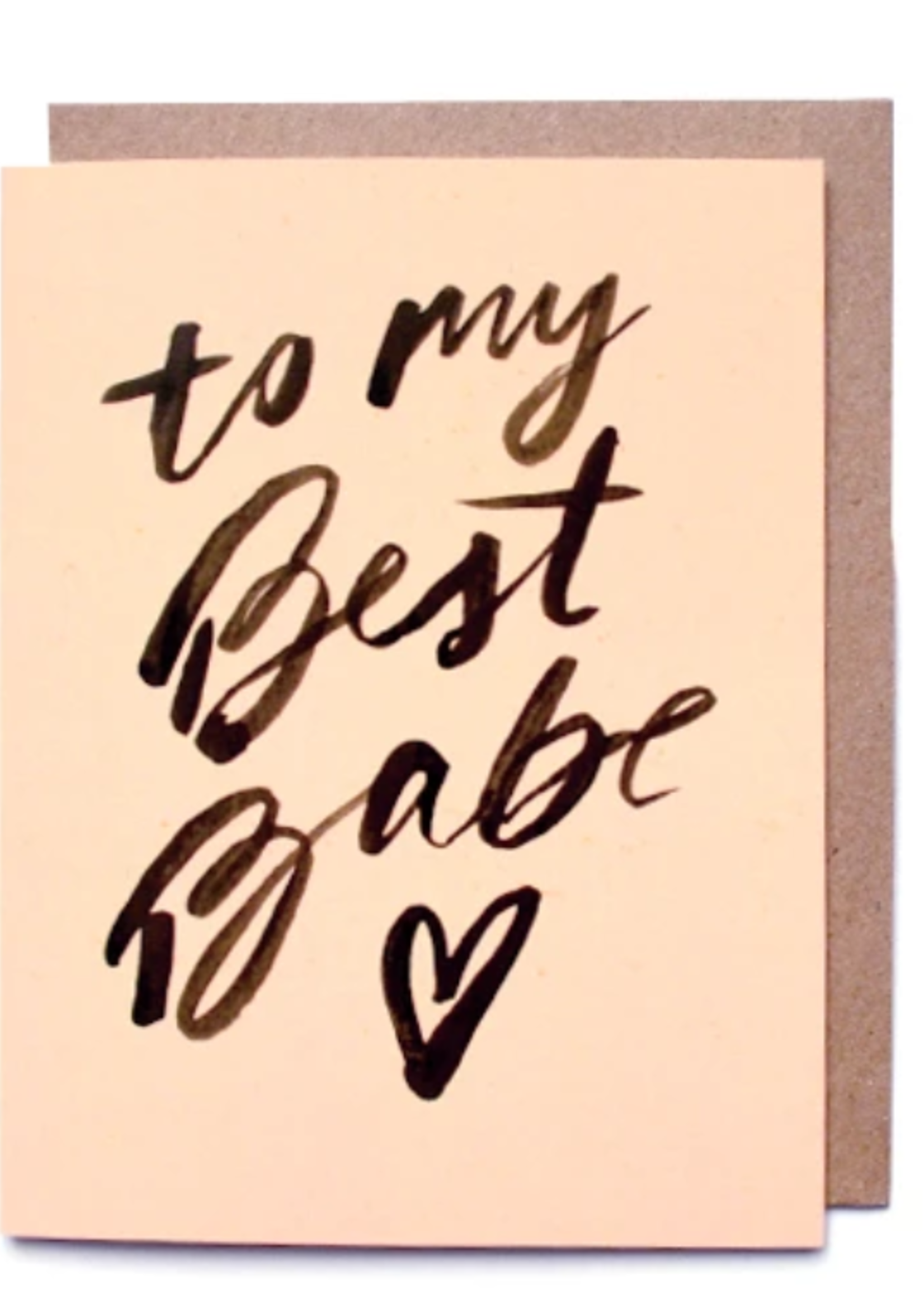 daydream prints to my best babe card