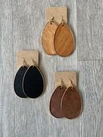 balsa wood earrings