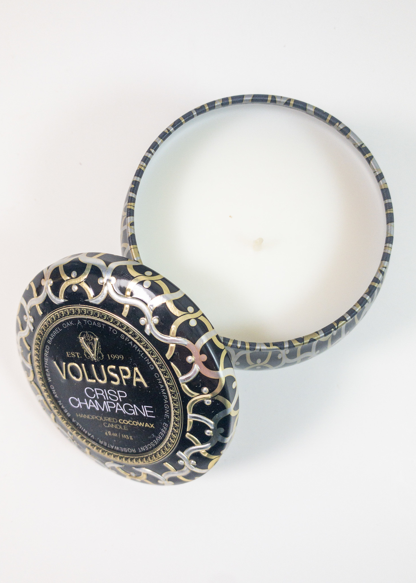 voluspa voluspa crisp champagne mini tin candle