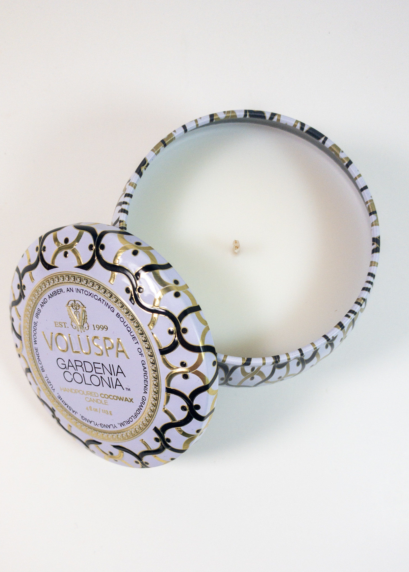 voluspa voluspa gardenia colonia mini tin candle