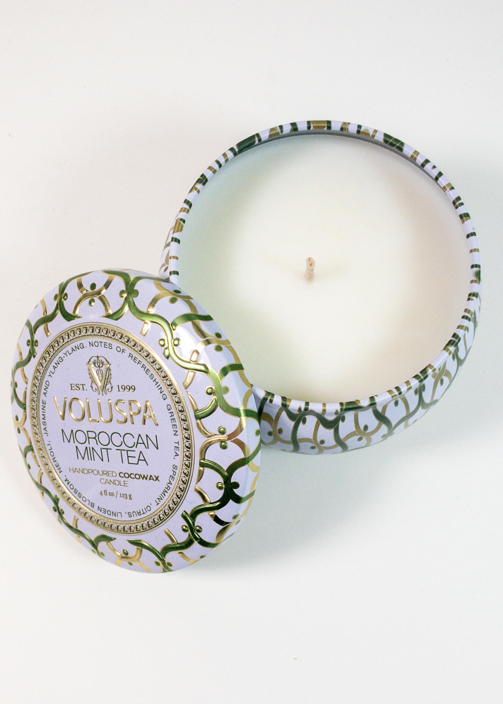 voluspa voluspa moroccan mint mini tin candle