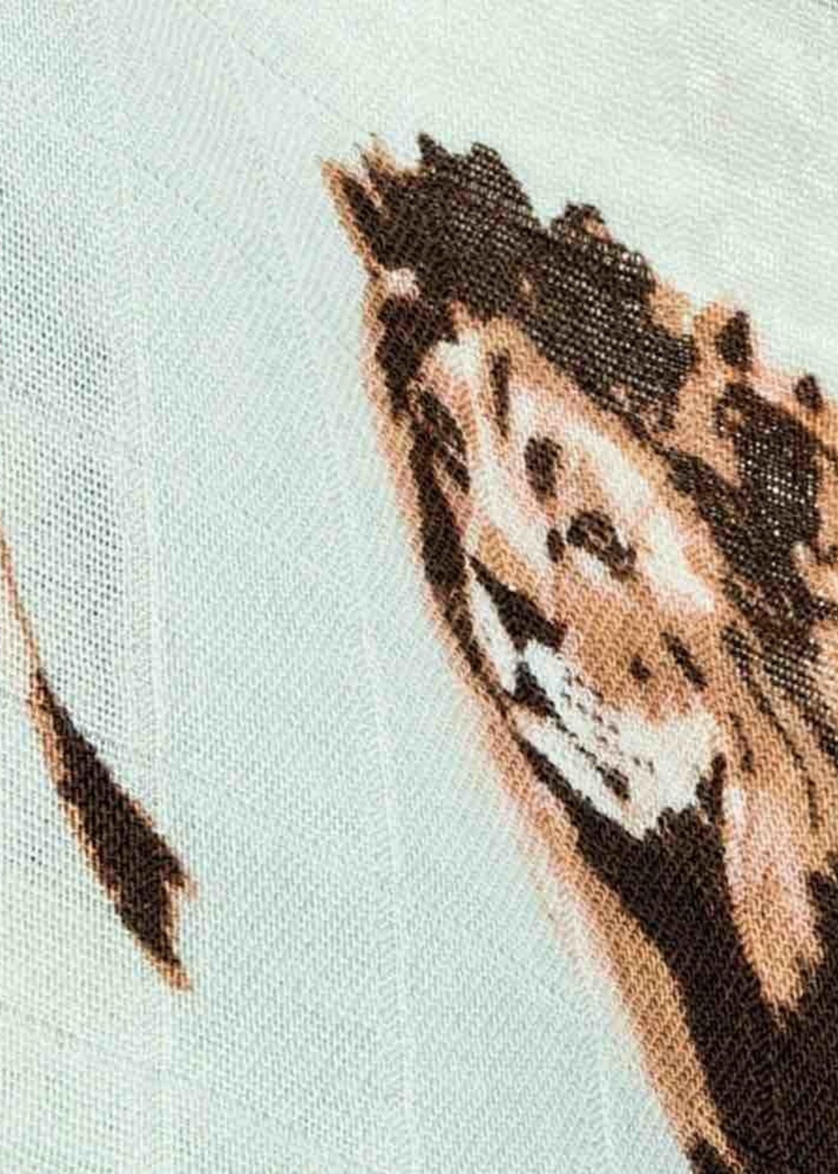milkbarn milkbarn bamboo swaddle lion