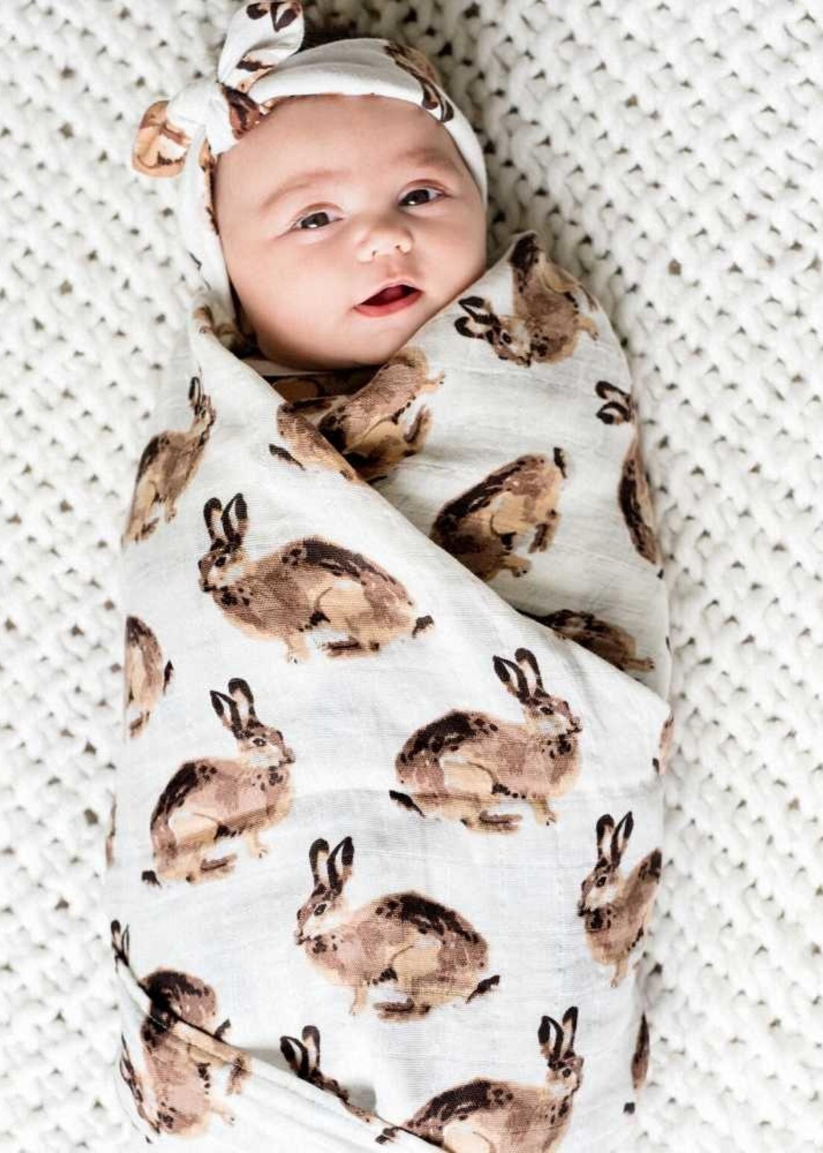 milkbarn milkbarn organic swaddle bunny