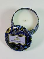 voluspa apple blue clover mini tin candle