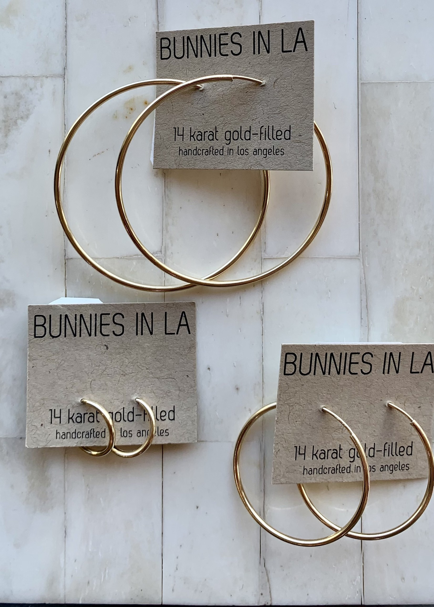 bunnies in la bunnies in LA large hoop earring