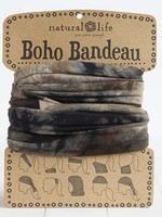 tie dye brown, green & navy boho bandeau
