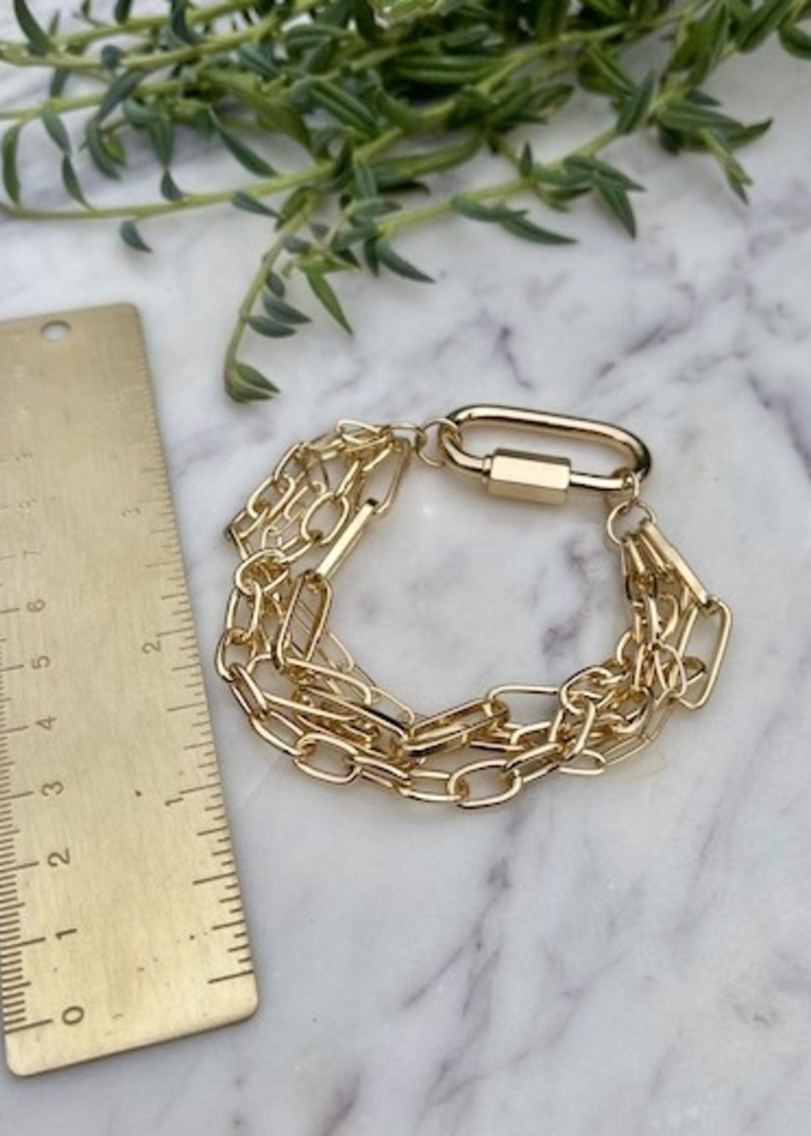 triple chain bracelet