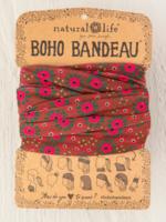 orange and pink boho bandeau