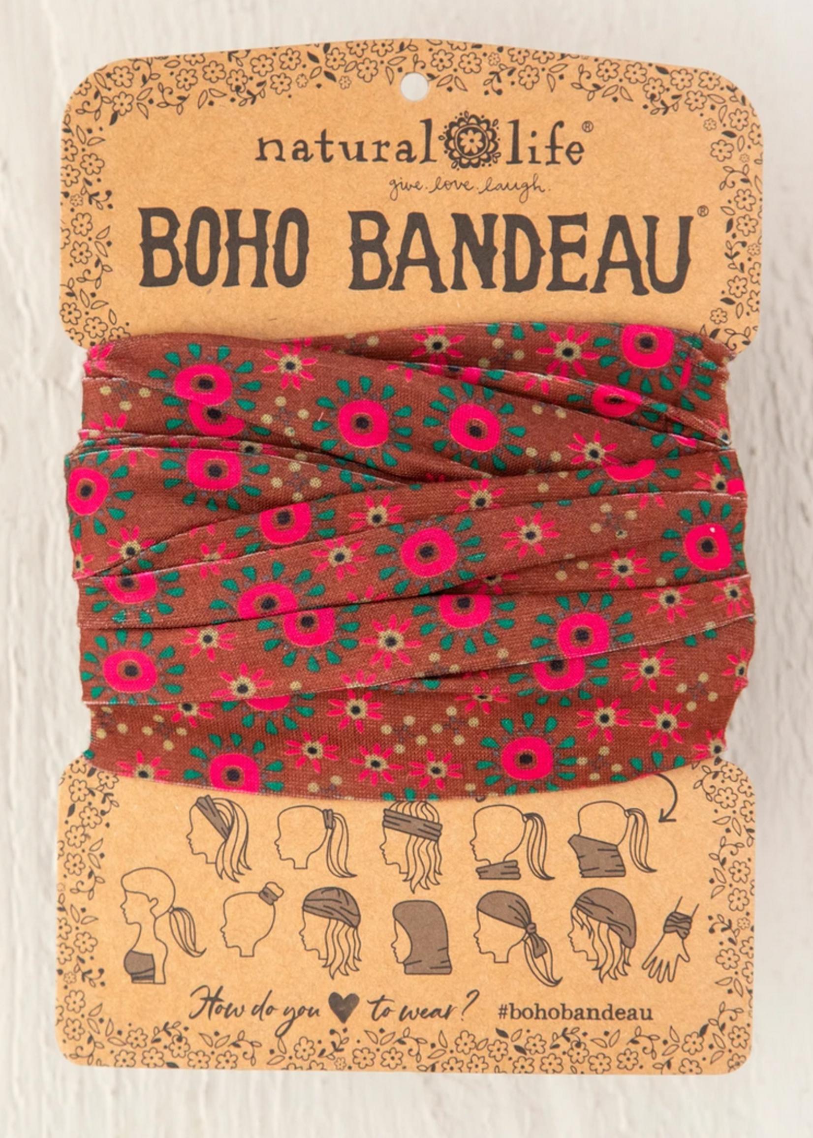 natural life orange and pink boho bandeau