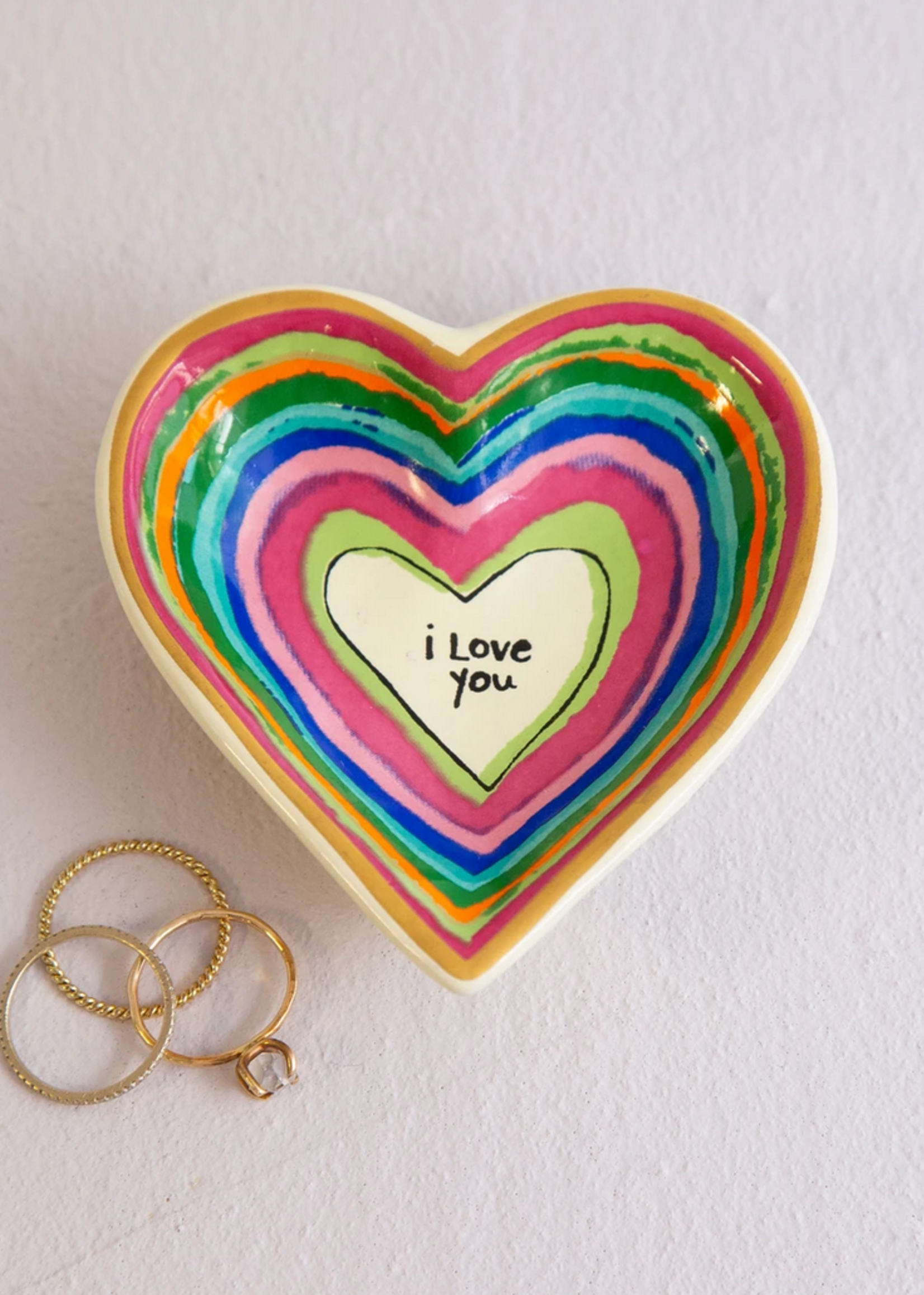 natural life i love you heart trinket dish