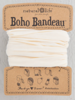 solid cream boho bandeau