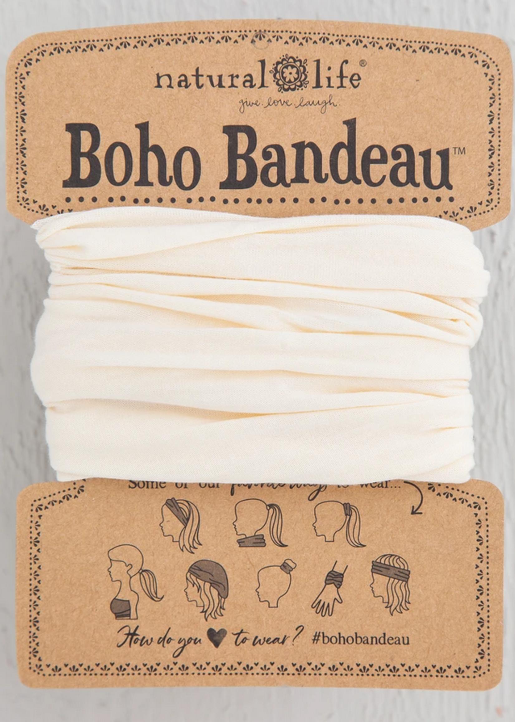 natural life solid cream boho bandeau