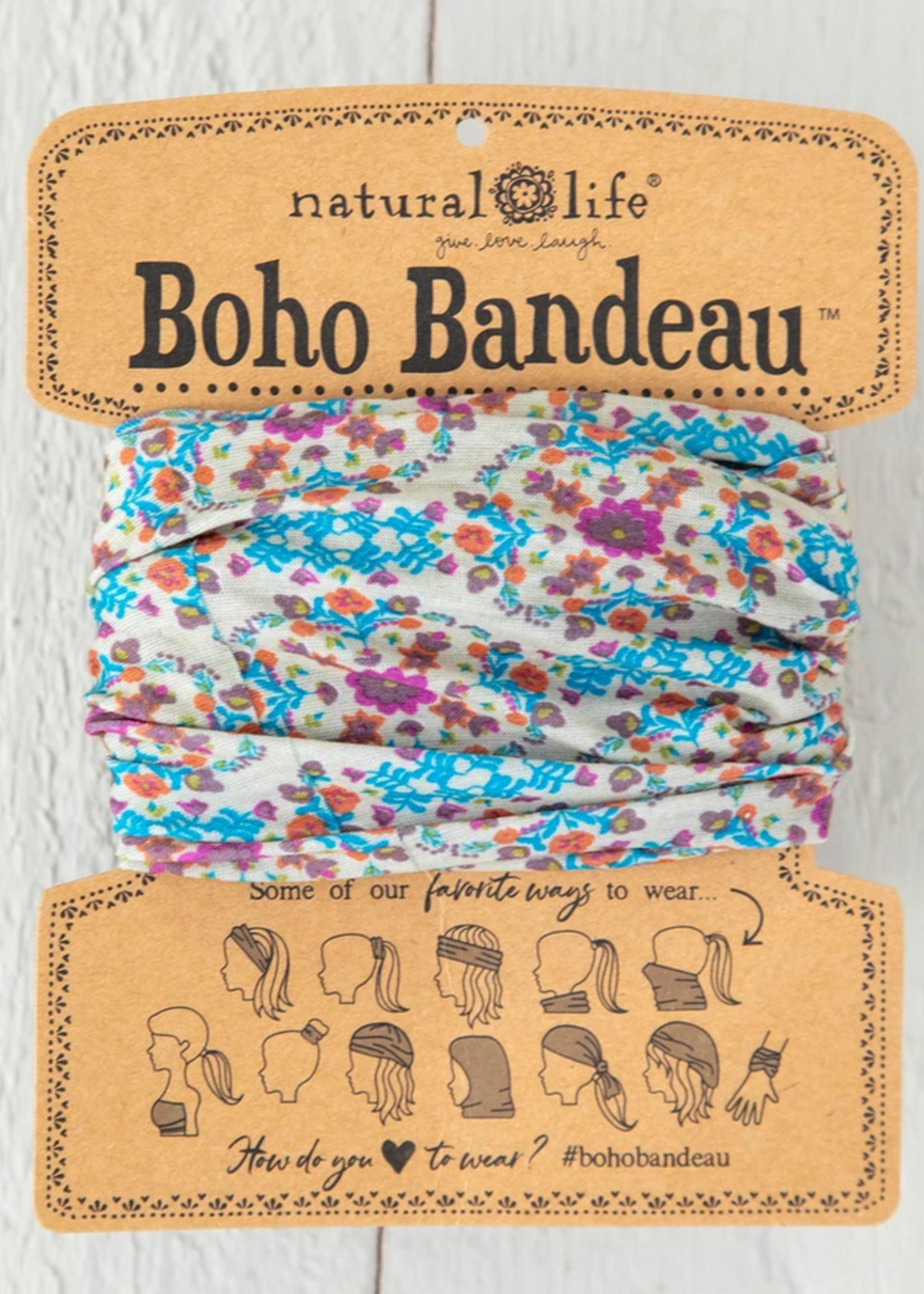 natural life grey flower stamp boho bandeau