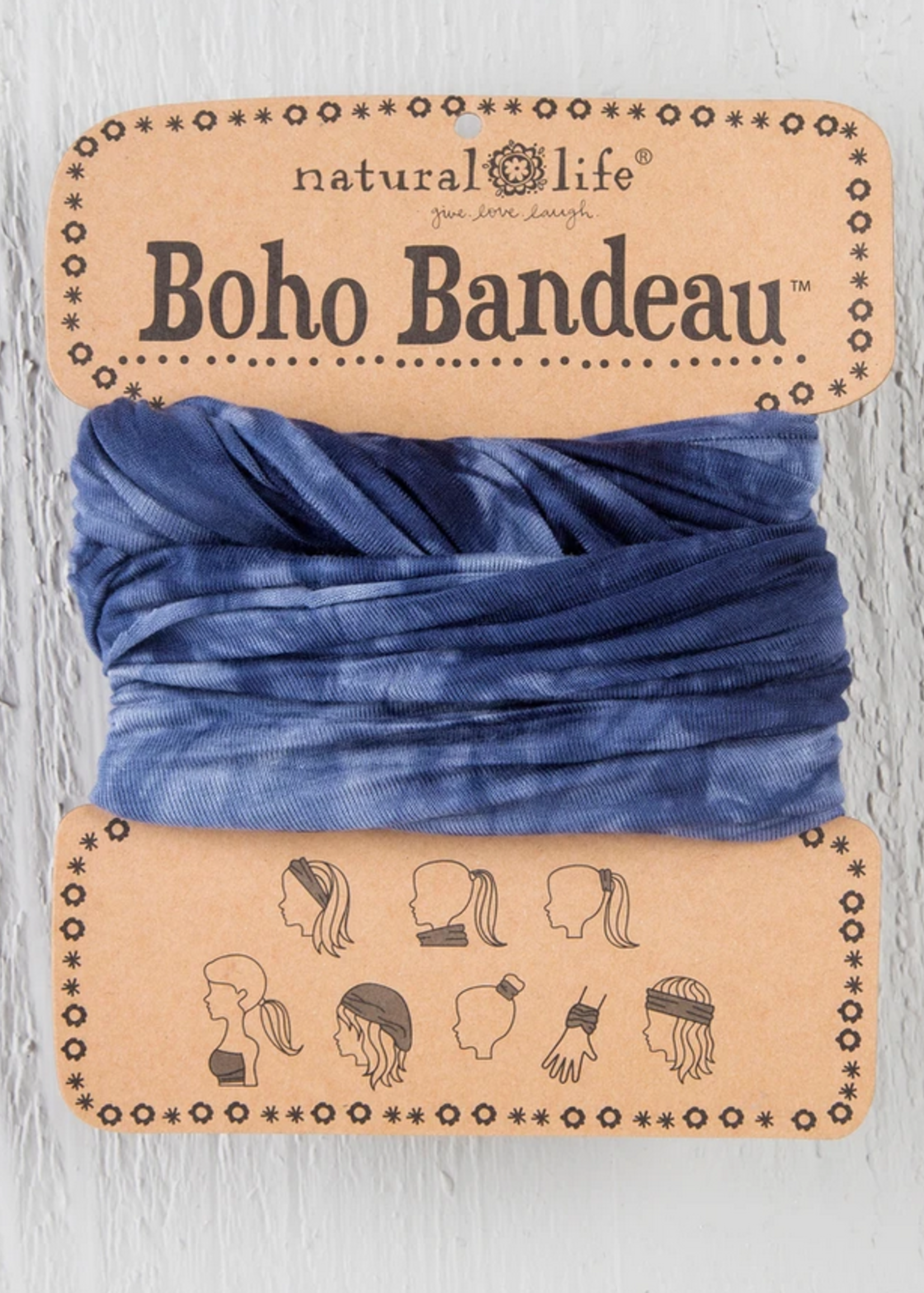 natural life tie-dye navy boho bandeau