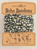 black cream floral boho bandeau
