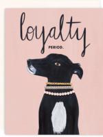 loyalty period card