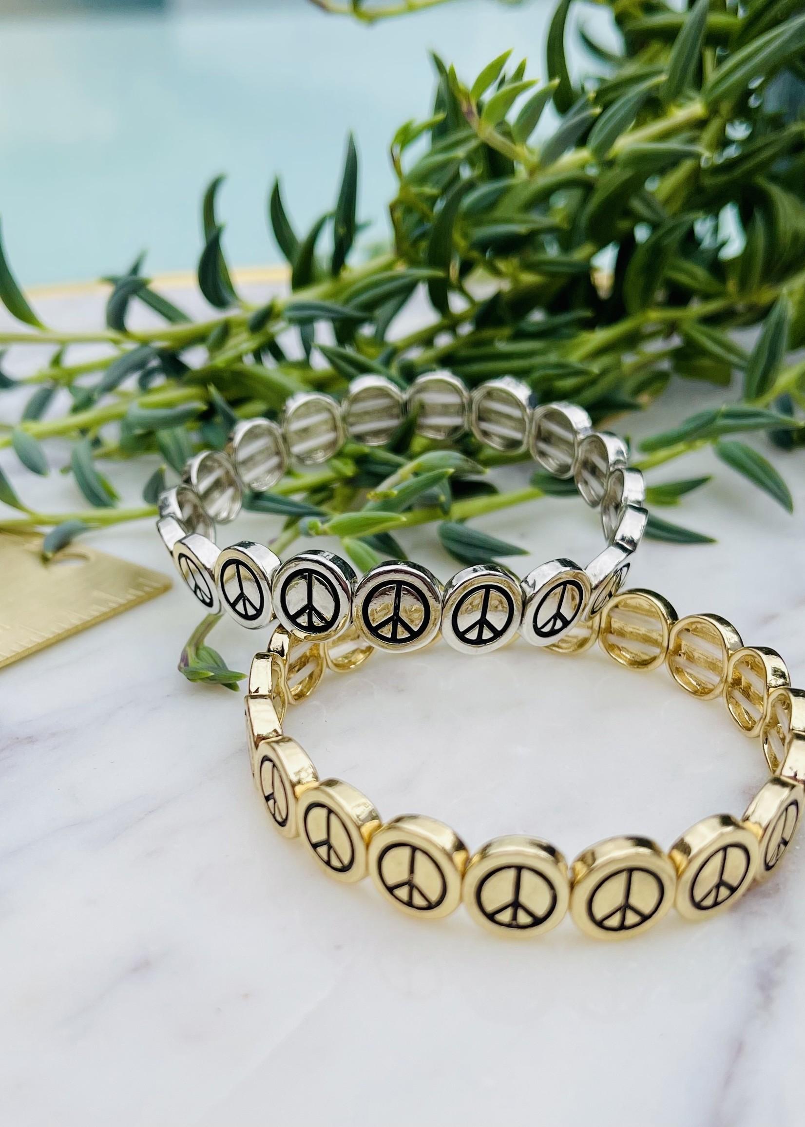 stretchy peace bracelet