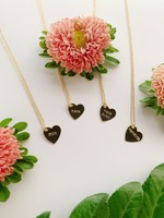 bunnies in la mama heart necklace