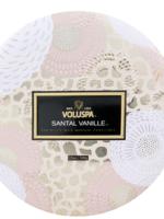 voluspa santal vanille 3 wick candle